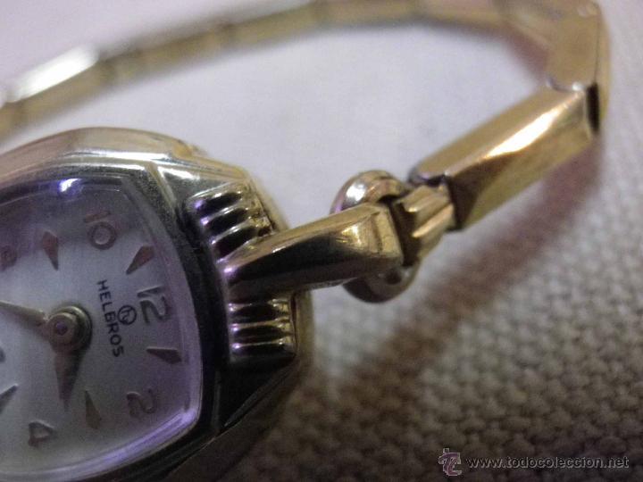Relojes de pulsera: ANTIGUO RELOJ DE PULSERA, DAMA, MARCA HELBROS, A REPARAR, CHAPADO EN ORO - Foto 2 - 51115443