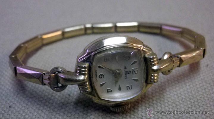 Relojes de pulsera: ANTIGUO RELOJ DE PULSERA, DAMA, MARCA HELBROS, A REPARAR, CHAPADO EN ORO - Foto 4 - 51115443