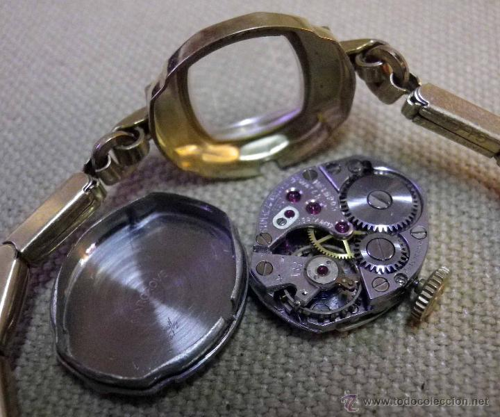 Relojes de pulsera: ANTIGUO RELOJ DE PULSERA, DAMA, MARCA HELBROS, A REPARAR, CHAPADO EN ORO - Foto 7 - 51115443