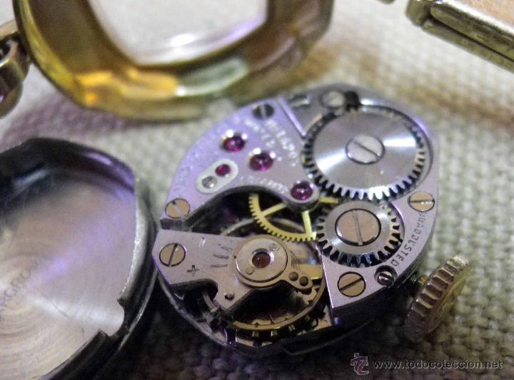 Relojes de pulsera: ANTIGUO RELOJ DE PULSERA, DAMA, MARCA HELBROS, A REPARAR, CHAPADO EN ORO - Foto 8 - 51115443