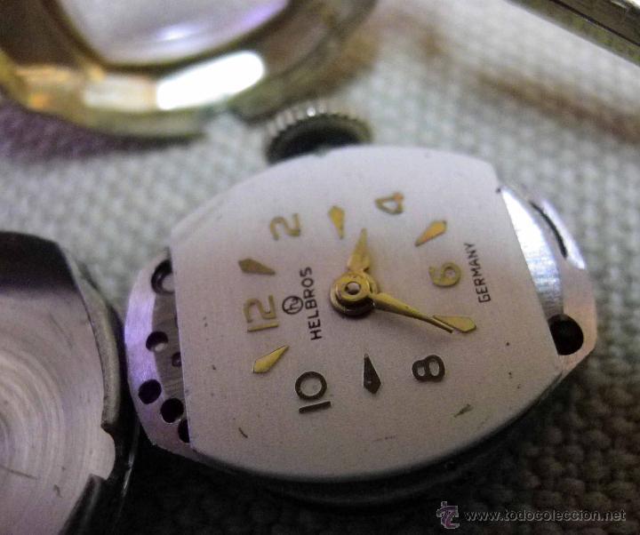 Relojes de pulsera: ANTIGUO RELOJ DE PULSERA, DAMA, MARCA HELBROS, A REPARAR, CHAPADO EN ORO - Foto 9 - 51115443