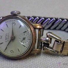 Relojes de pulsera: ANTIGUO RELOJ DE PULSERA, DAMA, MARCA CARTEL, A REPARAR, CHAPADO EN ORO. Lote 51115458
