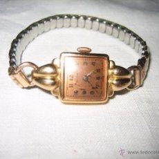Relojes de pulsera: RELOJ SRA DE ORO CON PULSERA CONCERTINA. GOLDEN LADIES WATCH WITH ACCORDIAN STRAP.. Lote 51163742