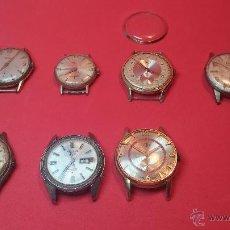 Relojes de pulsera: LOTE DE 7 MAGNIFICOS RELOJ O RELOJES ANTIGUOS, PARA REPARAR O RECAMBIOS. Lote 51379657