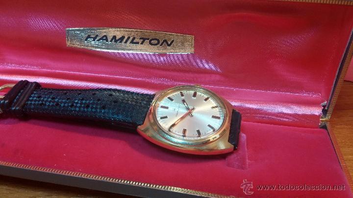 Relojes de pulsera: Reloj HAMILTON RACING CAL. 649 VINTAGE, años 70, con baño de oro de 18k de 20 M - Foto 3 - 51393829