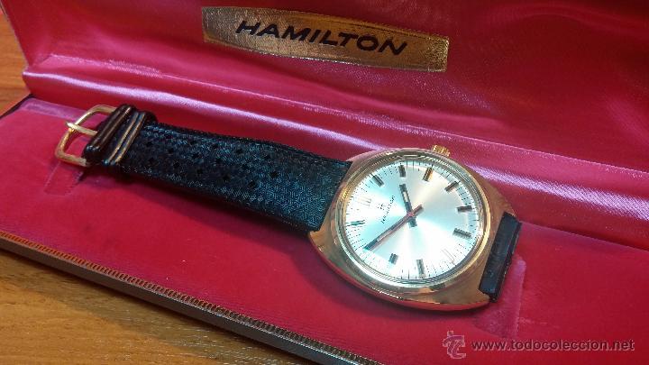Relojes de pulsera: Reloj HAMILTON RACING CAL. 649 VINTAGE, años 70, con baño de oro de 18k de 20 M - Foto 4 - 51393829