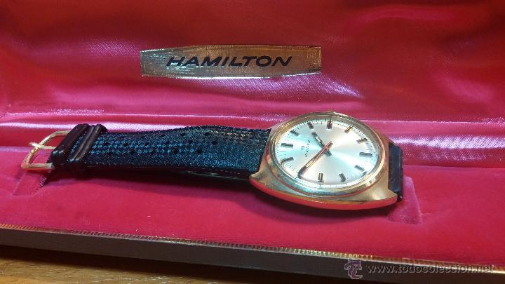 Relojes de pulsera: Reloj HAMILTON RACING CAL. 649 VINTAGE, años 70, con baño de oro de 18k de 20 M - Foto 5 - 51393829