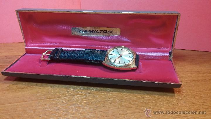 Relojes de pulsera: Reloj HAMILTON RACING CAL. 649 VINTAGE, años 70, con baño de oro de 18k de 20 M - Foto 6 - 51393829