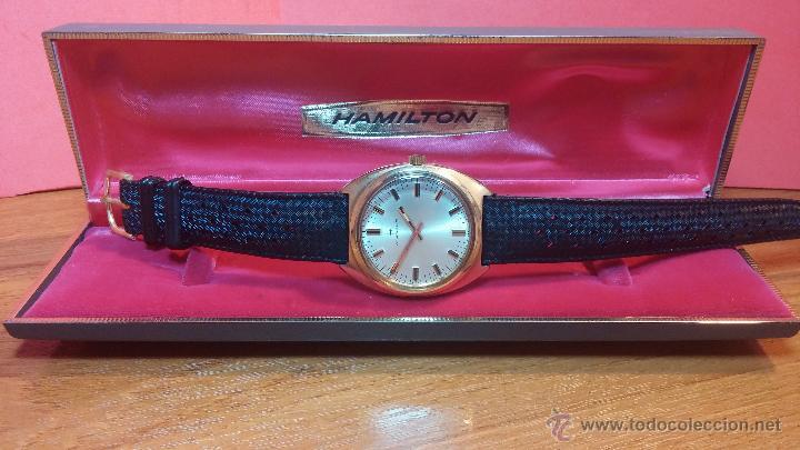 Relojes de pulsera: Reloj HAMILTON RACING CAL. 649 VINTAGE, años 70, con baño de oro de 18k de 20 M - Foto 7 - 51393829