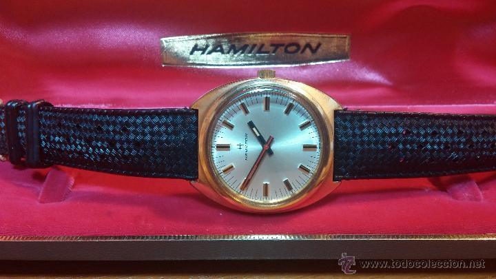 Relojes de pulsera: Reloj HAMILTON RACING CAL. 649 VINTAGE, años 70, con baño de oro de 18k de 20 M - Foto 8 - 51393829