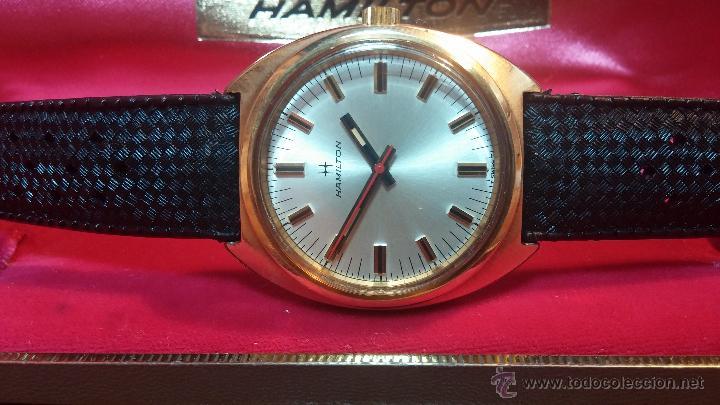 Relojes de pulsera: Reloj HAMILTON RACING CAL. 649 VINTAGE, años 70, con baño de oro de 18k de 20 M - Foto 9 - 51393829