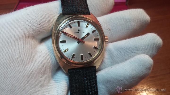 Relojes de pulsera: Reloj HAMILTON RACING CAL. 649 VINTAGE, años 70, con baño de oro de 18k de 20 M - Foto 10 - 51393829