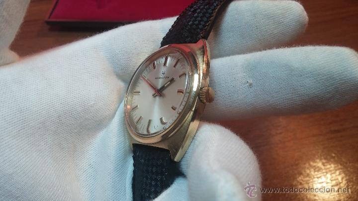 Relojes de pulsera: Reloj HAMILTON RACING CAL. 649 VINTAGE, años 70, con baño de oro de 18k de 20 M - Foto 11 - 51393829