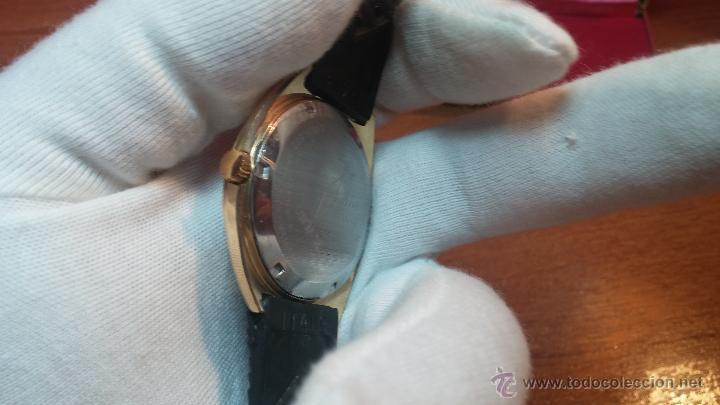 Relojes de pulsera: Reloj HAMILTON RACING CAL. 649 VINTAGE, años 70, con baño de oro de 18k de 20 M - Foto 12 - 51393829