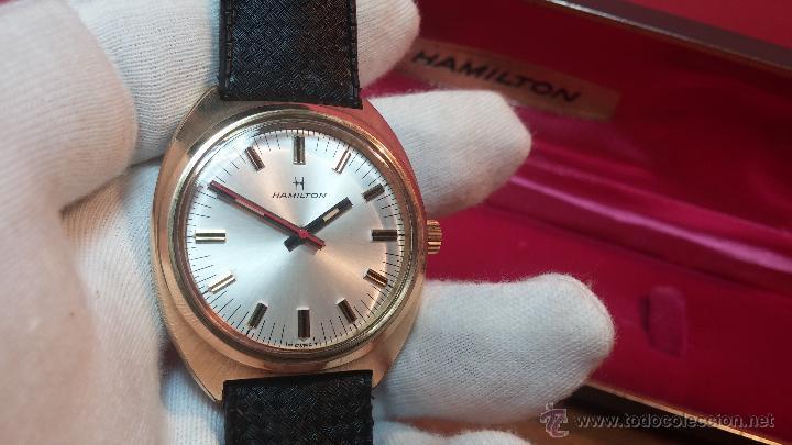 Relojes de pulsera: Reloj HAMILTON RACING CAL. 649 VINTAGE, años 70, con baño de oro de 18k de 20 M - Foto 13 - 51393829