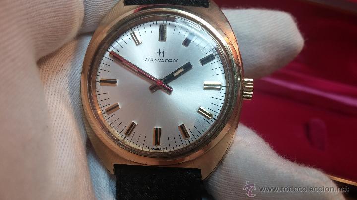 Relojes de pulsera: Reloj HAMILTON RACING CAL. 649 VINTAGE, años 70, con baño de oro de 18k de 20 M - Foto 14 - 51393829