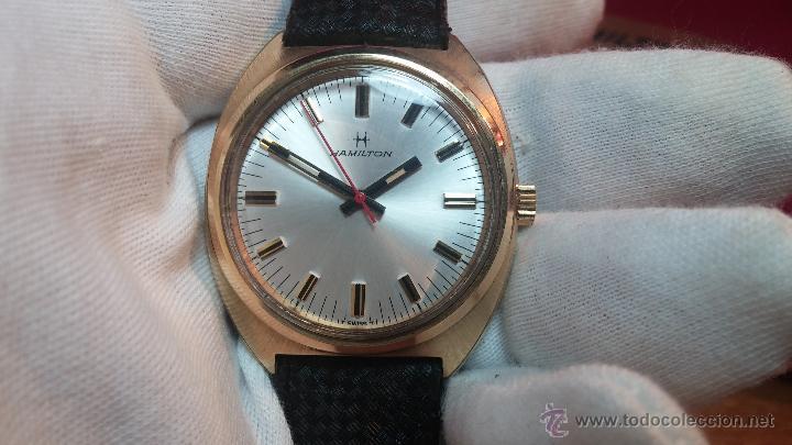 Relojes de pulsera: Reloj HAMILTON RACING CAL. 649 VINTAGE, años 70, con baño de oro de 18k de 20 M - Foto 15 - 51393829