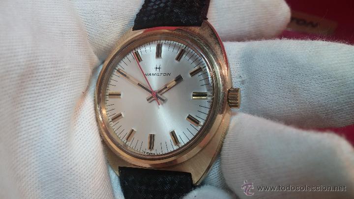 Relojes de pulsera: Reloj HAMILTON RACING CAL. 649 VINTAGE, años 70, con baño de oro de 18k de 20 M - Foto 16 - 51393829