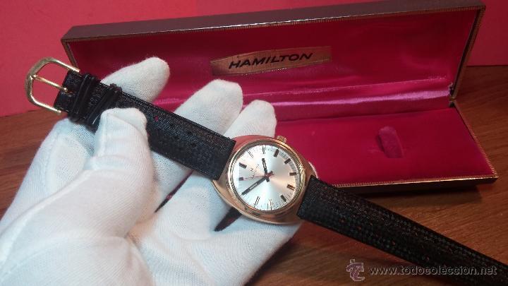 Relojes de pulsera: Reloj HAMILTON RACING CAL. 649 VINTAGE, años 70, con baño de oro de 18k de 20 M - Foto 17 - 51393829