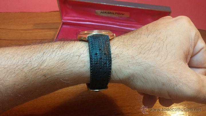 Relojes de pulsera: Reloj HAMILTON RACING CAL. 649 VINTAGE, años 70, con baño de oro de 18k de 20 M - Foto 18 - 51393829