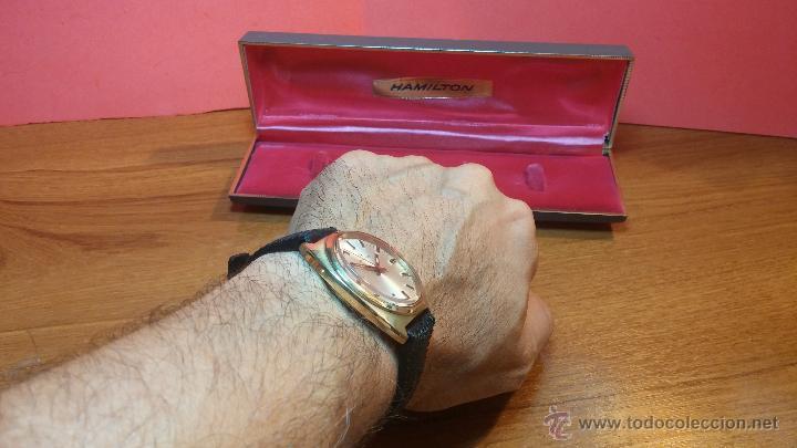 Relojes de pulsera: Reloj HAMILTON RACING CAL. 649 VINTAGE, años 70, con baño de oro de 18k de 20 M - Foto 20 - 51393829
