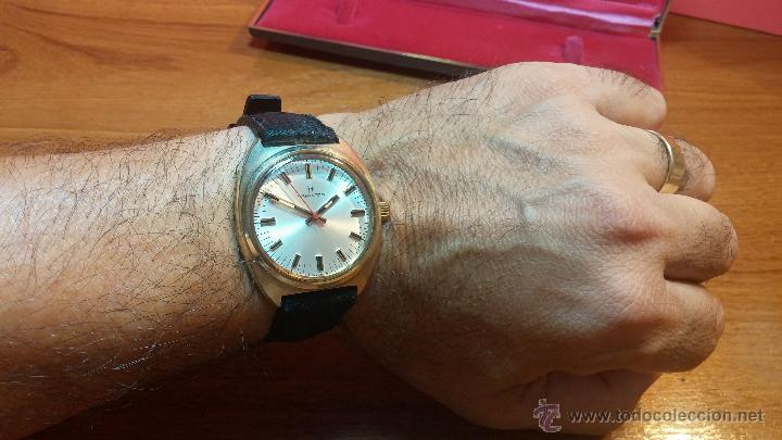 Relojes de pulsera: Reloj HAMILTON RACING CAL. 649 VINTAGE, años 70, con baño de oro de 18k de 20 M - Foto 21 - 51393829
