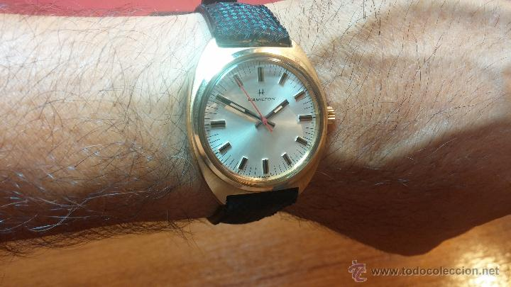 Relojes de pulsera: Reloj HAMILTON RACING CAL. 649 VINTAGE, años 70, con baño de oro de 18k de 20 M - Foto 22 - 51393829