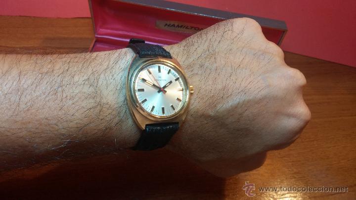 Relojes de pulsera: Reloj HAMILTON RACING CAL. 649 VINTAGE, años 70, con baño de oro de 18k de 20 M - Foto 23 - 51393829