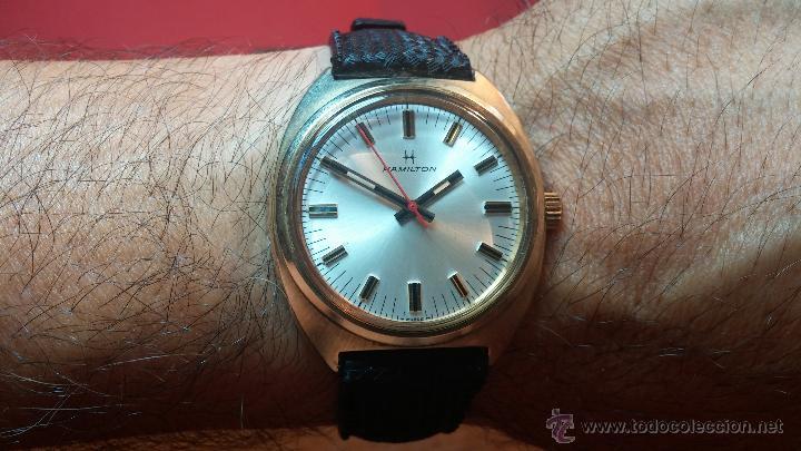 Relojes de pulsera: Reloj HAMILTON RACING CAL. 649 VINTAGE, años 70, con baño de oro de 18k de 20 M - Foto 24 - 51393829