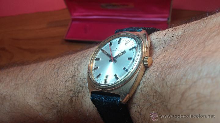 Relojes de pulsera: Reloj HAMILTON RACING CAL. 649 VINTAGE, años 70, con baño de oro de 18k de 20 M - Foto 25 - 51393829
