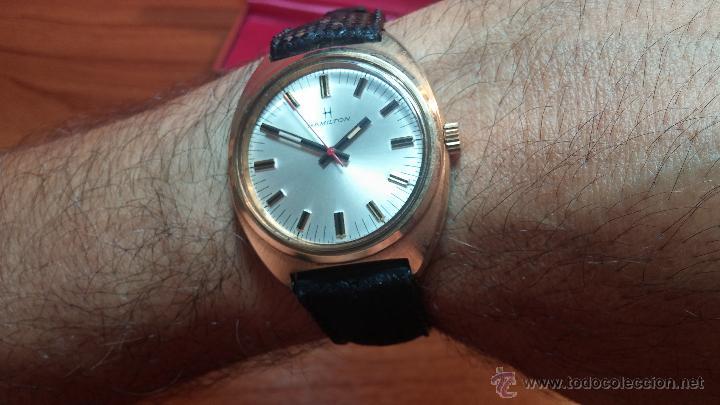 Relojes de pulsera: Reloj HAMILTON RACING CAL. 649 VINTAGE, años 70, con baño de oro de 18k de 20 M - Foto 26 - 51393829