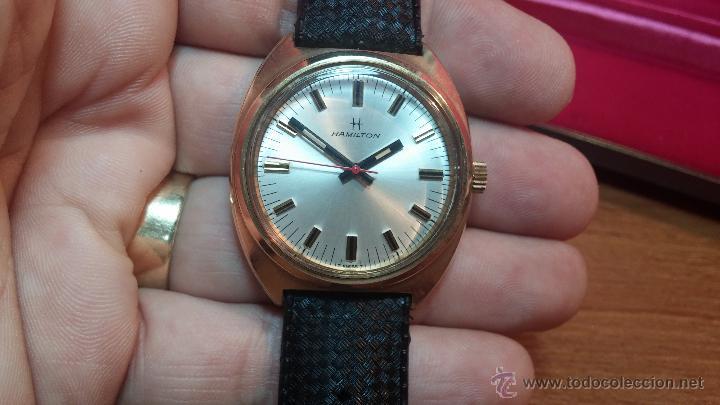 Relojes de pulsera: Reloj HAMILTON RACING CAL. 649 VINTAGE, años 70, con baño de oro de 18k de 20 M - Foto 27 - 51393829