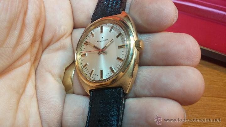 Relojes de pulsera: Reloj HAMILTON RACING CAL. 649 VINTAGE, años 70, con baño de oro de 18k de 20 M - Foto 28 - 51393829