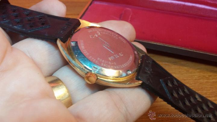 Relojes de pulsera: Reloj HAMILTON RACING CAL. 649 VINTAGE, años 70, con baño de oro de 18k de 20 M - Foto 29 - 51393829