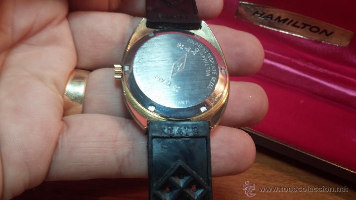 Relojes de pulsera: Reloj HAMILTON RACING CAL. 649 VINTAGE, años 70, con baño de oro de 18k de 20 M - Foto 30 - 51393829