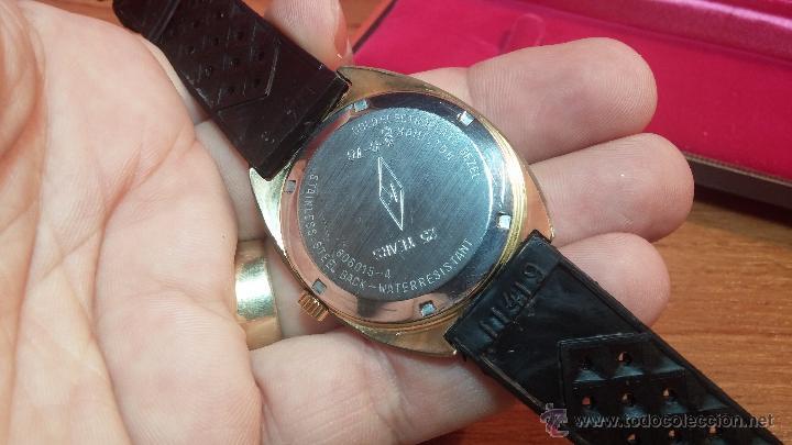 Relojes de pulsera: Reloj HAMILTON RACING CAL. 649 VINTAGE, años 70, con baño de oro de 18k de 20 M - Foto 31 - 51393829