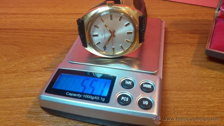 Relojes de pulsera: Reloj HAMILTON RACING CAL. 649 VINTAGE, años 70, con baño de oro de 18k de 20 M - Foto 33 - 51393829