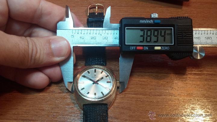 Relojes de pulsera: Reloj HAMILTON RACING CAL. 649 VINTAGE, años 70, con baño de oro de 18k de 20 M - Foto 34 - 51393829