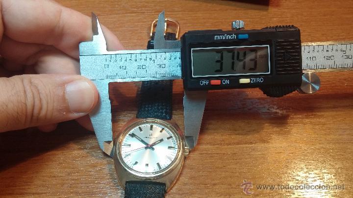 Relojes de pulsera: Reloj HAMILTON RACING CAL. 649 VINTAGE, años 70, con baño de oro de 18k de 20 M - Foto 35 - 51393829