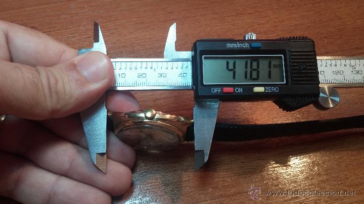 Relojes de pulsera: Reloj HAMILTON RACING CAL. 649 VINTAGE, años 70, con baño de oro de 18k de 20 M - Foto 37 - 51393829