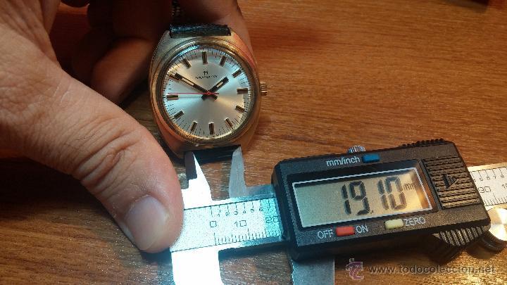 Relojes de pulsera: Reloj HAMILTON RACING CAL. 649 VINTAGE, años 70, con baño de oro de 18k de 20 M - Foto 39 - 51393829