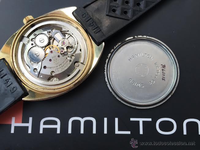 Relojes de pulsera: Reloj HAMILTON RACING CAL. 649 VINTAGE, años 70, con baño de oro de 18k de 20 M - Foto 40 - 51393829
