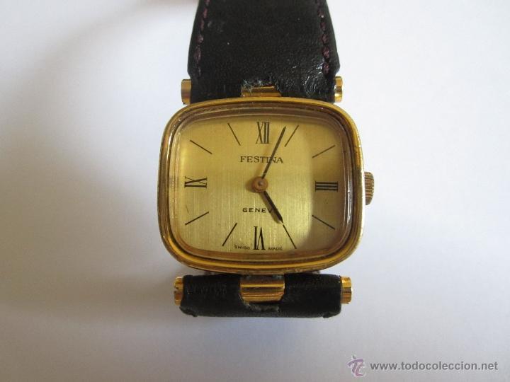 RELOJ PULSERA FESTINA GENEVE, 10 MICRONES ORO,SWISS MADE (Relojes - Pulsera Carga Manual)