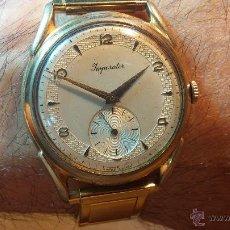 Relojes de pulsera: ESPECIMEN IN OF, RELOJ SUIZO VINTAGE LANCO IMPERATOR, GRAN TAMAÑO, A CUERDA Y DE 15 RUBÍS. Lote 99052444