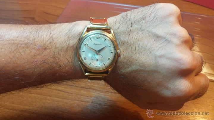 Relojes de pulsera: Especimen in OF, reloj Suizo VIntage Lanco Imperator, gran tamaño, a cuerda y de 15 rubís - Foto 2 - 99052444