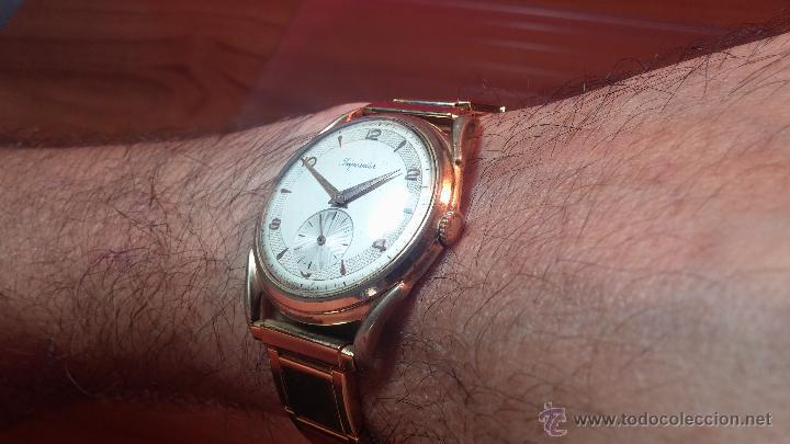 Relojes de pulsera: Especimen in OF, reloj Suizo VIntage Lanco Imperator, gran tamaño, a cuerda y de 15 rubís - Foto 3 - 99052444