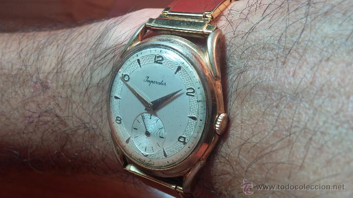 Relojes de pulsera: Especimen in OF, reloj Suizo VIntage Lanco Imperator, gran tamaño, a cuerda y de 15 rubís - Foto 4 - 99052444