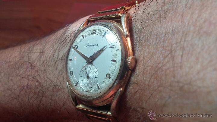 Relojes de pulsera: Especimen in OF, reloj Suizo VIntage Lanco Imperator, gran tamaño, a cuerda y de 15 rubís - Foto 5 - 99052444