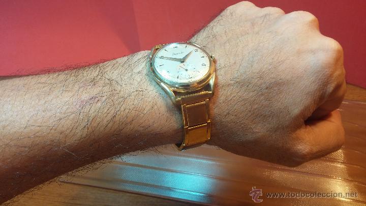 Relojes de pulsera: Especimen in OF, reloj Suizo VIntage Lanco Imperator, gran tamaño, a cuerda y de 15 rubís - Foto 7 - 99052444
