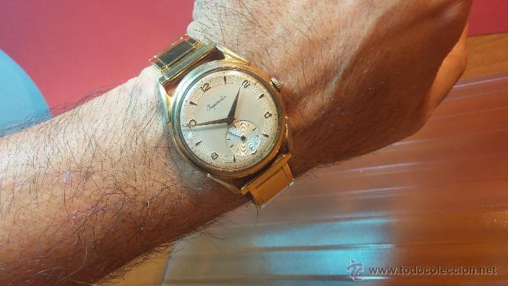 Relojes de pulsera: Especimen in OF, reloj Suizo VIntage Lanco Imperator, gran tamaño, a cuerda y de 15 rubís - Foto 9 - 99052444